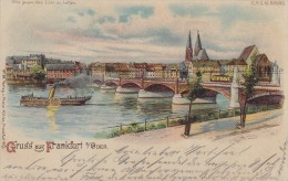 AK Gruss Aus Frankfurt / Oder Halt Gegen Das Licht Gelaufen 1899 - Halt Gegen Das Licht/Durchscheink.