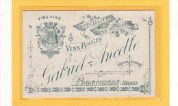 FRONTIGNAN (34) / ALCOOLS / VINS / CARTES DE VISITES TARIFS / GABRIEL-ANCETTE Spécialité De Vins Muscats-vins Rouges - Cartes De Visite