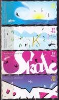 ! ARGENTINE / ARGENTINA: Extreme Sports: Skate, Ski, Surfing, Mountain Bike (2013) MNH / Neuf *** - Cycling