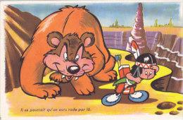 Il Se Pourrait Qu'un Ours Rode Par Là (enfant Indien) - Humour