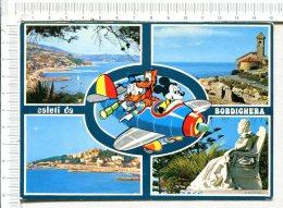 Saluti  Da  BORDIGHERA  -    4 Vues     Plus   Illustration :    Walt Disney  Productions - Imperia