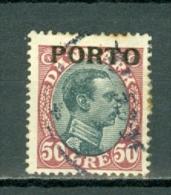 Danmark 1921 Yv 7 Used / Obl / Gebr - Cote € 6,00 - Port Dû (Taxe)