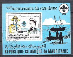 Mauritanie 1982 Scout, Perf. Sheet, Used O.006 - Mauritius (1968-...)