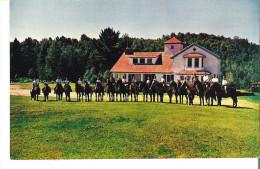 Camp Mariste, Lac Morgan, Rawdon, Quebec Sous La Direction Des Freres Maristes  Une Des Activites: L'Equitation - Other