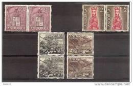1964 Andorra Spagnola Spanish Andorre SOGGETTI DIVERSI 2 Serie Di 4v. MNH** Emessa 29/2/64 Mi.63/66 - Andorra Spagnola