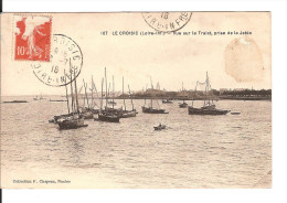 44 LE CROISIC / CPA   Chapeau N° 107 : Vue Sur Le Traict, Prise De La Jetée / Circulée 1918 / Etat Passable Timbre Déchi - Le Croisic