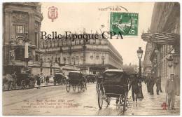 75 - TOUT PARIS 09 - #265 - Rue Scribe - À Gauche Le Théâtre De L´Opéra ++++ Coll. F. FLEURY ++++ Vers Avignon, 1908 +++ - Distrito: 09