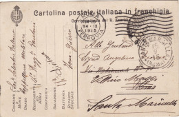 ZONA DI GUERRA   /  SANTA MARINELLA  - Card _ Cartolina  In Franchigia R. Esercito _  Viaggiata 14.9.1915 - Storia Postale