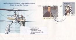 Australia 1981 Chichester's Flight Across The Tasman Anniversary PSE Used - Entiers Postaux