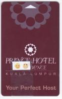 Prince Hôtel Et Résidence / Kuala Lumpur - Clé De Chambre - Hotelkarten