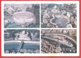 CARTOLINA VG ITALIA - ROMA - Panorami - Vedutine - 12 X 17 - ANNULLO LEGGERO - Roma