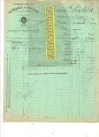 75 - Paris - PARIS - Facture PECHON - Manufacture De Brosses Et De Pinceaux - 1922 - REF 35 - 1900 – 1949