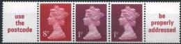 1973 Gran Bretagna, Striscia Per Distributori Automatici, Serie Completa Nuova (**) - Unused Stamps