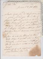 Manoscritti Lettera Scritta Da Frascati Per Roma 1823 - Manoscritti