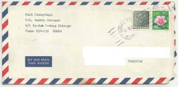 POSTAL USED AIRMAIL COVER TO PAKISTAN  RECEIVER ADDRESS REMOVE BY COMPUTER - Korea (...-1945)