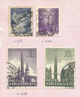 Vatican Poste Aérienne N°11, 12, 35, 38 Côte 1.45 Euros - Aéreo