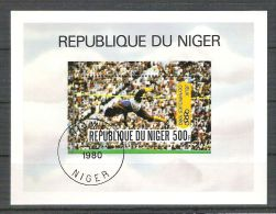 Niger 1980 Sport, Perf. Sheet, Used R.004 - Niger (1960-...)