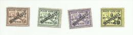 Vatican Taxe N°1 à 4 Cote 10 Euros - Taxes