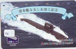 Télécarte SUBMARINE * JAPAN (36)  Militairy *  SOUS-MARIN * U-BOOT * SUBMARINO * SOTTOMARINO BARCO - Army