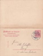 Entier Postal - Carte Postale Avec Réponse Payée Oblitéré Très Proprement : SCHNEIDEMÜHL Le 19.9.1907 - Allemagne