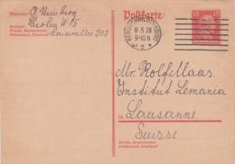 Entier Postal - Carte Postale  10 X 15 Oblitéré BERLIN-CHARLOTTENBURG Le 8.3.1928 à Destination De Lausanne - Allemagne