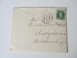Schweiz 1893 Einfachfrankatur Nr. 59 Verzähnte Marke! Brief Mit Inhalt! - Covers & Documents