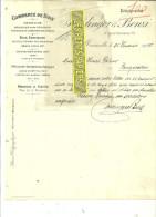 13 - Bouches-du-rhône - MARSEILLE - Facture HEDINGER & BENZI - Commerce De Bois - 1907 - REF 35 - 1900 – 1949
