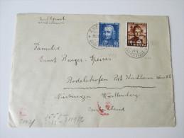 Schweiz 1941 Nr. 400 / 402 Luftpost. Zensurpost Wehrmacht. Verwendung Vor Dem Ersten Ausgabetag!!! 31.11.1941 - Briefe U. Dokumente