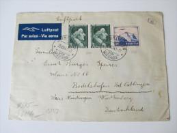 Schweiz 1941 Nr. 387 U. 399 MiF Luftpost / Par Avion. Geöffnet Oberkommando Der Wehrmacht. Zensurpost - Briefe U. Dokumente
