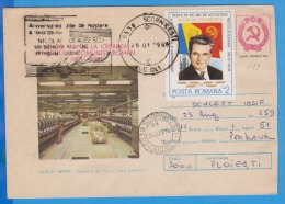 Anniversary Of The Communist Party Leader Nicolae Ceausescu Meter Mark Special  Romania Cover 1988 - History