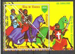 Eq. Guinea 1978 Los Caballeros, Imperf. Sheet, Used N.020 - Guinée Equatoriale