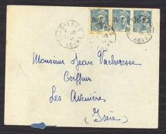 L 116  -  France  :  Yv  4  (o) Sur Lettre Du 12/10/44 De Bussières Pour Les Avenières - Liberation