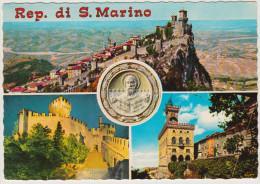 POSTCARD & STAMPS / TIMBRES - San Marino - Unused Multiview With 5 Stamps/Timbres - San Marino