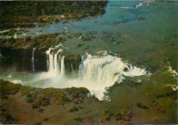 Cataratas Do Iguassu Iguazu Falls, Brazil Brasil Postcard 1972 - Brazil