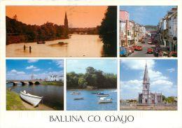 Ballina, Co Mayo, Ireland Eire postcard used posted to UK 2006 john hinde