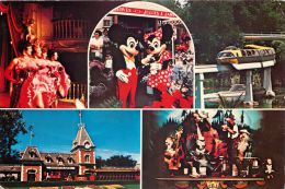 Multiview, Disneyland, Anaheim, California, USA Postcard Used Posted To UK 1985 Stamp - Disneyland