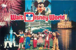 Multiview, Disneyworld, Orlando, Florida, USA Postcard Used Posted To UK 1989 Stamp - Disneyworld
