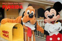 Mickey Mouse, Pluto And Fan Mail, Disneyworld, Orlando, Florida, USA Postcard Used Posted To UK 1994 Stamp - Disneyworld