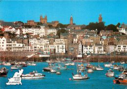 St Peter Port, Guernsey Postcard Used Posted To UK 1991 Stamp - Guernsey