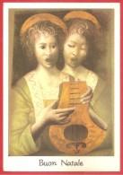 CARTOLINA VG ITALIA - EROS BONAMINI Dall´originale Dipinto Con La Bocca Angeli Cantori - 10 X 15 - ANNULLO LEUMANN 1970 - Illustratori & Fotografie
