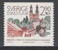 Sweden Sverige 1986 Mi 1396 ** Eskilstuna : Twin Cities In Scandinavia / Partnerstädte In Skandinavien - Geographie