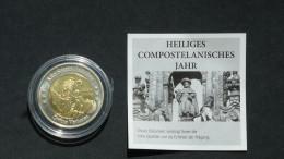 VATIKAN 2010 Euro Specimen Coin 2 EUR Heiliges Compostelanisches Jahr UNC + Sertificate - Vatikan