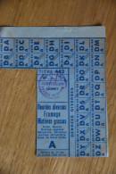 Rationnement - Feuille De Tickets Denrees Diverses Derval Loire Inferieure Atlantique - Documenten
