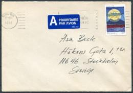 1992 Iceland Reykjavik Airmail Cover - Sweden - 1944-... Republique
