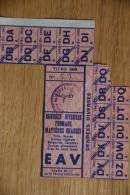 Rationnement - Feuille De Tickets Denrees Diverses Derval Loire Inferieure Atlantique Titre 308 - Documenten