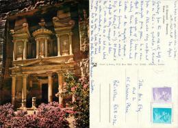 Petra, Jordan Postcard Used Posted To UK 1988 Gb Stamp - Jordan