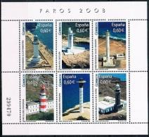 Spain Mint 2008 -  Lighthouses - Blocs & Hojas