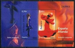Spain Mint 2008 - Popular Dances - Joint Issue Spain-Ireland - Blocks & Sheetlets & Panes