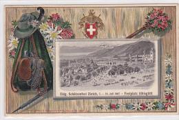 Zürich (ZH) Eidg. Schützenfest, Albisgütli, Sonderstempel, Lithopräge-Rahmen, 1907   ***24941 - ZH Zurich
