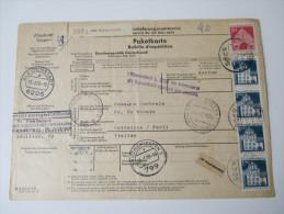 BRD Paketkarte Nach Italien! 6 Stempel!! Bleidenstadt - Cattolica / Forli. über Friedrichshafen Und Bologna. - BRD